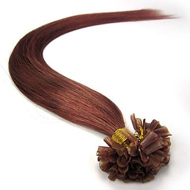 σύντηξης prebond κερατίνη επέκταση μαλλιά νύχια σχήμα U ινδική παρθένα remy 100s μαλλιά μπλέκεται ελεύθερο, δεν απόπτωση σε απόθεμα