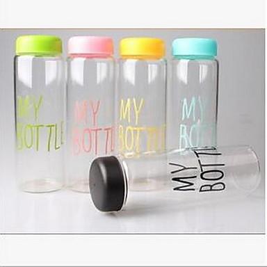minha garrafa de plástico esportivo suco de frutas copo de água portátil 500ml garrafa de viagem