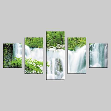 toile set Paysage Modern,Cinq Panneaux Toile Verticale Imprimer Art Décoration murale