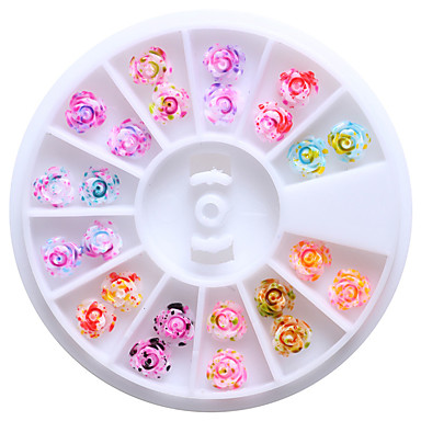 1 pcs Joyas de Uñas Encantador arte de uñas Manicura pedicura Diario Flor / Moda / El plastico / Joyería de uñas