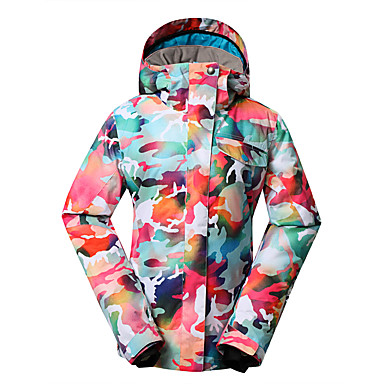 d623f8433 GSOU SNOW® Oblečení na lyže Bundy na lyže/snowboard Dámské Zimní oblečení  Polyester Květiny / maskování Oblečení na zimyVoděodolný / 5095875 2019 –  $82.39