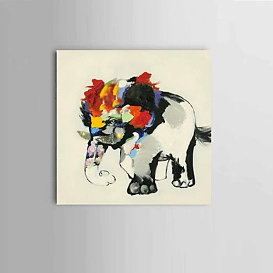 Handgemalte Abstrakt / Landschaft / Tier Ölgemälde,Modern / Klassisch / Europäischer Stil Ein Panel Leinwand Hang-Ölgemälde For Haus