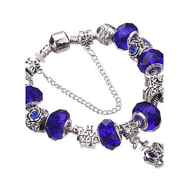 בגדי ריקוד נשים נשים צמידי צ'ארם צמידים צמידי Strand Silver Bracelets קריסטל מקסים חרוזים ארופאי עמיד אופנתי אקרילי אבן נוצצת מצופה כסף