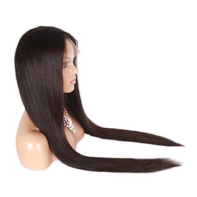 Menneskehår Helblonde Paryk Lige Paryk 130% Natural Hairline / Afro-amerikansk paryk / 100 % håndbundet Dame Lang Blondeparykker af menneskehår / Ret
