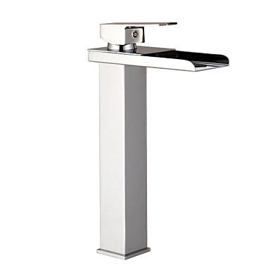 Moderne Basin Termostatisk Enkelt håndtag Et Hul Krom, Håndvasken vandhane