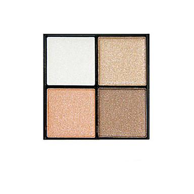 4 Paleta de Sombras Secos Paleta da sombra Pó Pressionado Maquiagem para o Dia A Dia