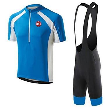 KEIYUEM Manga Curta Camisa com Bermuda Bretelle Unissexo Moto Calções Bibes Camisa/Roupas Para Esporte Conjuntos de Roupas/Ternos