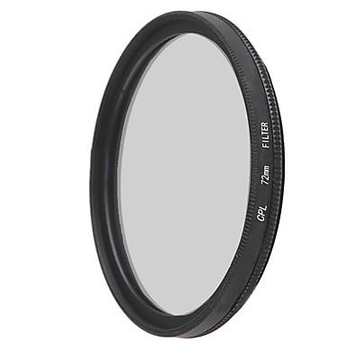 emoblitz 72mm CPL sirkulært polarisasjonsfilter linse filter