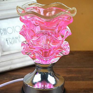 grânulos fragrância do sensor de toque lâmpada pétalas decorativo mesa Nightlight