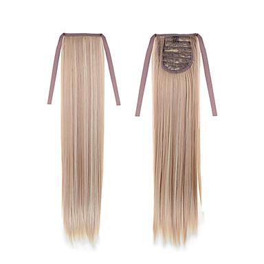 reta longa cauda 22 polegadas 55 centímetros 100g # 18/613 cor misturada com cordão sintético extensão do cabelo rabo de cavalo rabo de cavalo