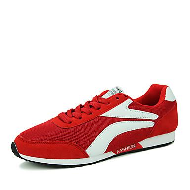 Masculino-Rasos-Arrendondado-Rasteiro-Preto / Azul / Vermelho-Tule-Para Esporte