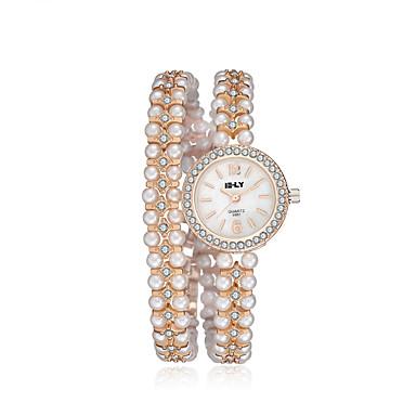 jewelora Damen Kleideruhr Modeuhr Quartz Armbanduhren für den Alltag Schockresistent Legierung Band Vintage Gold