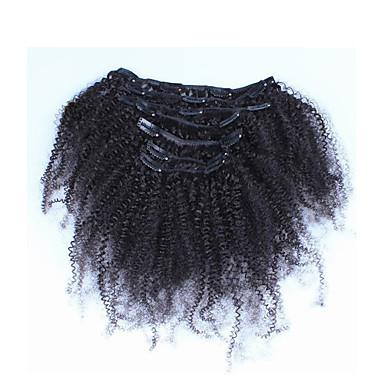 10 «-26» filipino afro kinky σγουρά filipino 7pcs μαλλιά αφροαμερικάνων κλιπ σε επεκτάσεις ανθρώπινα πραγματική μαλλιά