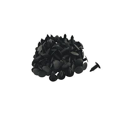 k027 100 db autó belső kárpitozás panel klip fekete műanyag szegecset