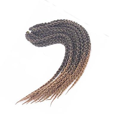 #27 Twist cubique Tresses Twist Extensions de cheveux 22 inch Kanekalon 12 Brin 115-125g/pack gramme Braids Hair