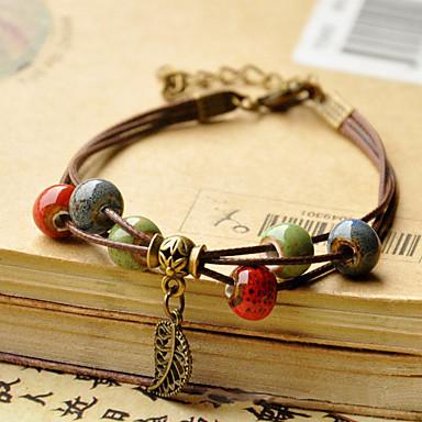 Damen Perlenbesetzt loom-Armband - Modisch, Volkston Armbänder Kaffee Für Alltag / Normal