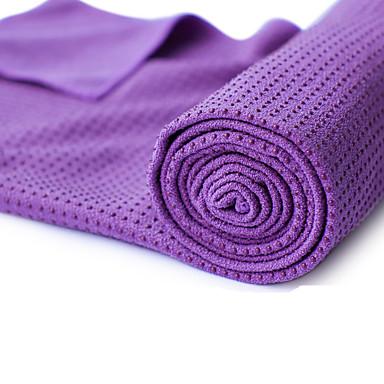 Yoga Havlusu Kokusuz, Çevre-dostu, Kaymaz mikrofiber 180.0*60.0*0.5 cm Uyumluluk Yoga / Pilates / Bikram Mor, Yeşil, Mavi İle