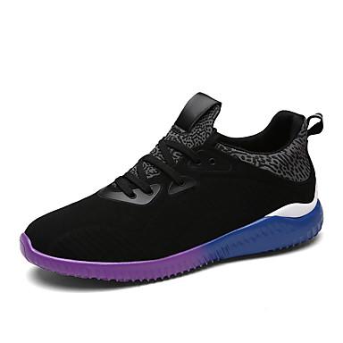Herren Sneaker Walking Komfort Stoff Herbst Sportlich Normal Elastisch Flacher Absatz Schwarz Grau Blau