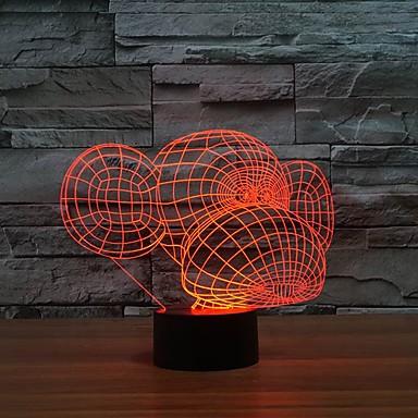 encantador macaco boca ilusão 3d noite levou luz multi cores para o presente ciranças a luz muda de cor à noite