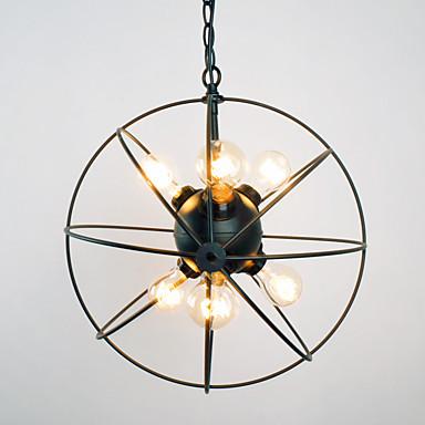 BriLight 6-Licht Kugel Pendelleuchten Raumbeleuchtung Lackierte Oberflächen Metall Ministil 110-120V / 220-240V Glühbirne nicht inklusive / E26 / E27