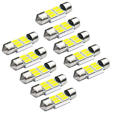 JIAWEN 10pcs Festoon / 31mm מכונית נורות תאורה 1.2W SMD 5730 95lm אור אחורי / תאורת עבודה / מנורת דלת