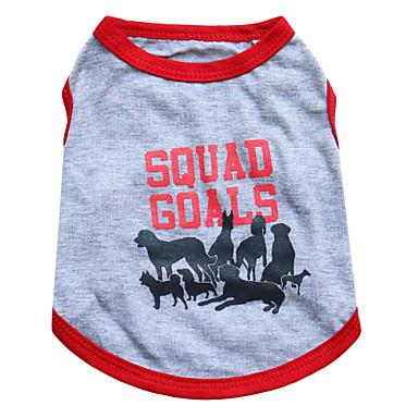 Katze Hund T-shirt Hundekleidung Tier Grau Baumwolle Kostüm Für Haustiere Sommer Herrn Damen Modisch