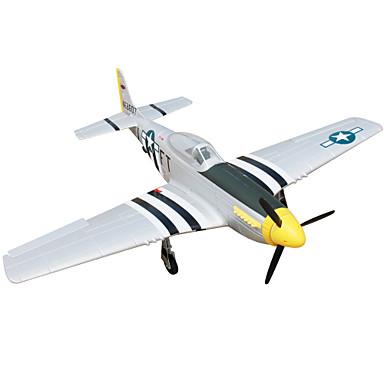 RC Flugzeug P51D Mustang 4 Kan?le 2.4G 1: 8 50 km / h KM / H geringfügige Montage nötig Bürstenloser Elektromotor
