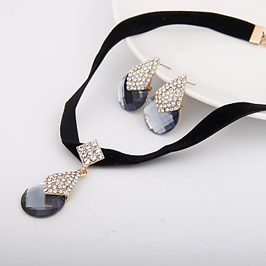 Damen Schmuckset Halskette / Ohrringe Diamantimitate Luxus Simple Style Hochzeit Party Alltag Normal Ohrringe Halsketten Modeschmuck