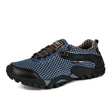 Herrn Schuhe PU Tüll Sommer Sneakers Wandern für Normal Draussen Schwarz Blau Khaki