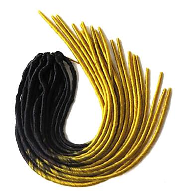 ドレッドロックス ハバナ Faux Dreads かぎ針編みの恐怖 Dreadlock拡張機能 カネカロン イエロー ヘアエクステンション 20inch 髪の三つ編み