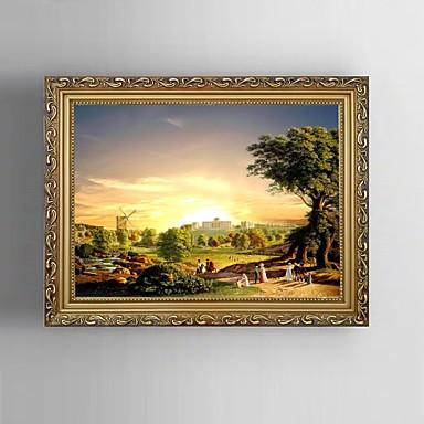 canvas Set Paisagem Estilo Europeu,1 Painel Tela Horizontal Impressão artística wall Decor For Decoração para casa