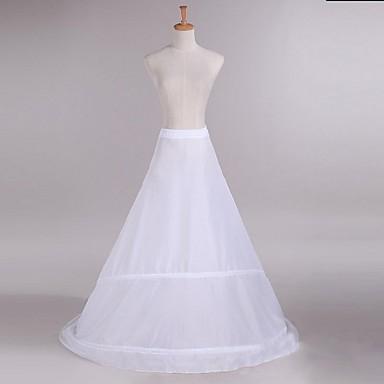 Hochzeit Unterhosen Taft Bodenlänge A-Linie mit