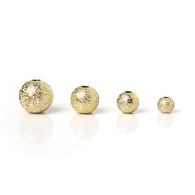 תכשיטים DIY 30 יח חרוזים מצופה כסף ציפוי זהב פלסטי זהב כסף קשת עגול חָרוּז 0.12 cm עשה זאת בעצמך שרשראות צמידים