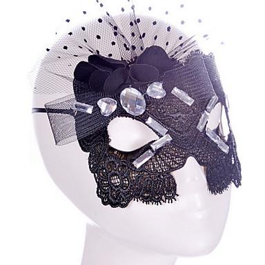 סגנון Sey מסיכה שחורה / תחרה לבנה עבור מסכות masker קישוט למסיבת ליל כל הקדושים