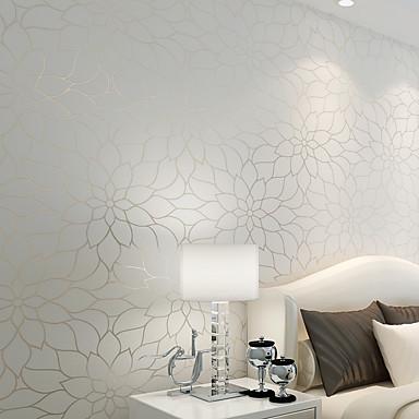Floral Decoração para casa Moderna Revestimento de paredes, Papel não tecido Material adesivo necessário papel de parede, Cobertura para