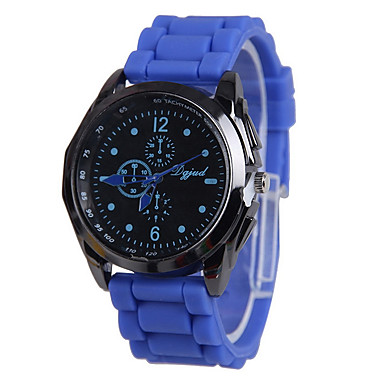 Mujer Reloj Casual / Reloj de Moda Reloj Casual Silicona Banda Negro / Blanco / Azul