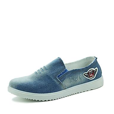שטוחות גברים של נעליים קז'ואל קנבס כחול / כחול נייבי