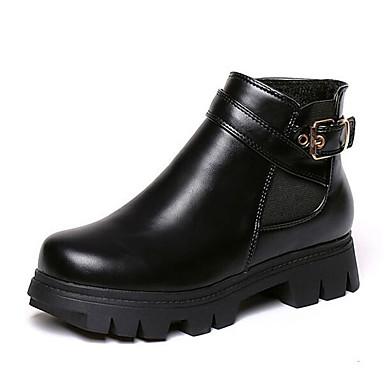 Dame-Kunstlær-Platå-Creepers / Ridestøvler-Støvler-Friluft-Svart