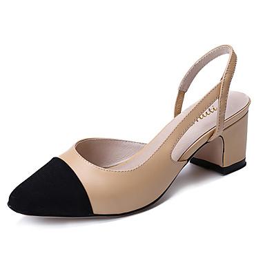 Sandaler-Andet dyreskindDame-Mandel-Formelt Fritid-Tyk hæl