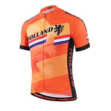 Miloto Homens Mulheres Manga Curta Camisa para Ciclismo Moto Camisa/Roupas Para Esporte, Secagem Rápida, Respirável, Redutor de Suor,