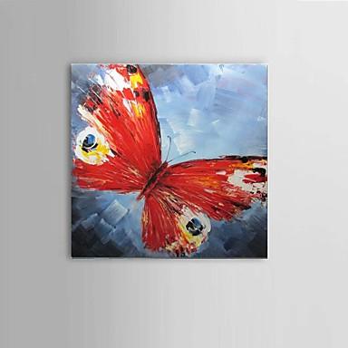 Hånd-malede Abstrakt / Still Life / Dyr / Fantasi Oliemalerier,Parfumeret / Europæisk Stil / Moderne / Klassisk Et Panel Canvas