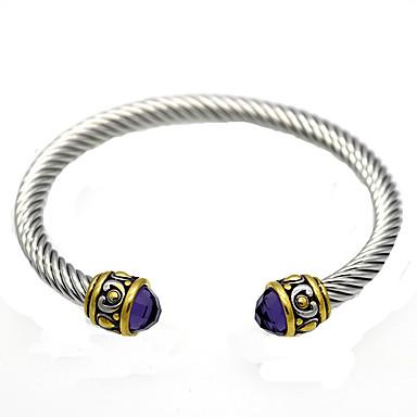 Heren Dames Bangles Cuff armbanden Vintage Verstelbaar Aanbiddelijk Duurzaam Modieus Punk Kristal Strass Titanium Staal Anderen Sieraden