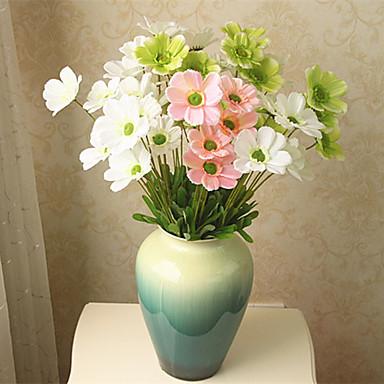 1 Gren Polyester Plastikk Liljer Bordblomst Kunstige blomster