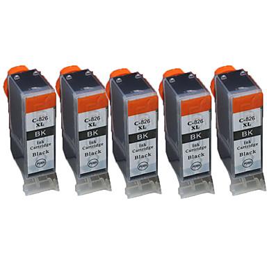 compatibilidade Canon ix6580 ip4980 mg5180 mg5280 mg5380 cartuchos de impressora (um parque de 5)
