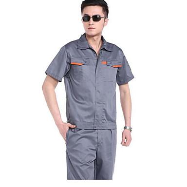 sommer kortærmet overalls jakkesæt overalls værktøj arbejdskraft (salg mørkegrå khaki lomme kant)
