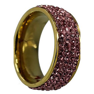 Ringe Mode Bryllup Fest Smykker Legering Zirkonium Dame Statement-ringe 1 Stk.,6 7 8 9 10 Sølv