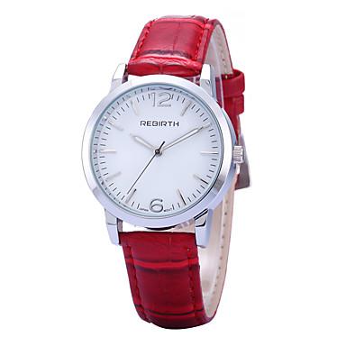 REBIRTH Mulheres Relógio de Moda Relógio de Pulso Relógio Casual Quartzo / PU Banda Casual Minimalista Preta Vermelho Marrom