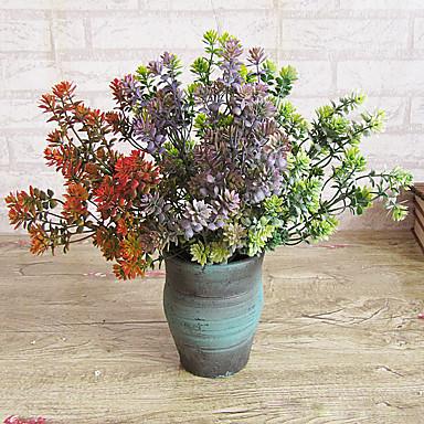 1 1 haara Polyesteri / Muovi Kasvit Pöytäkukka Keinotekoinen Flowers 14.170inch/36cm