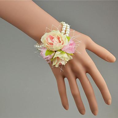 Bouquets de Noiva Buquê de Pulso Casamento Tule Miçangas Renda 1.18