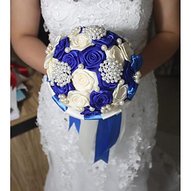Bouquets de Noiva Redondo Rosas Buquês Casamento Cetim 6.69